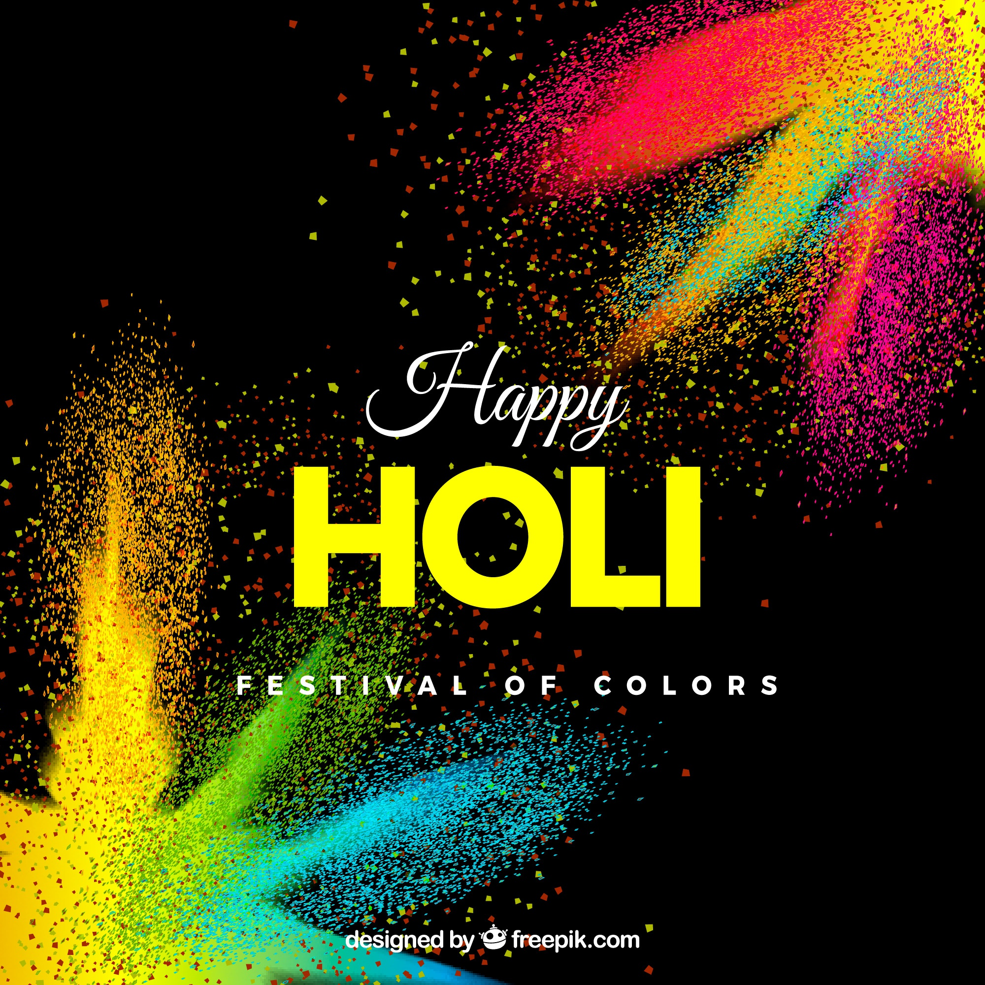 Realistic holi festival background