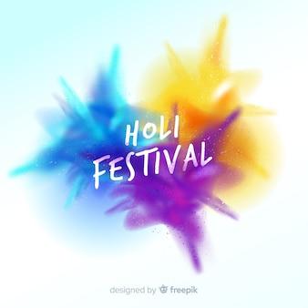 Sfondo di festival di holi realistico