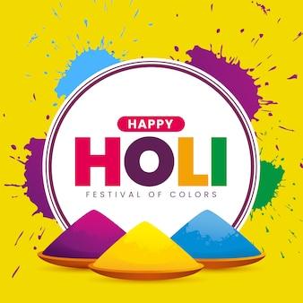Realistic holi festival concept