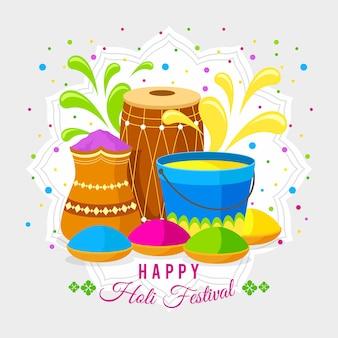 Realistic holi festival festive concept