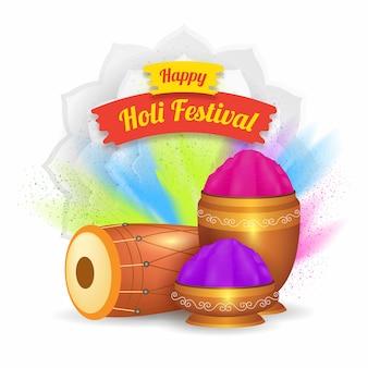 Realistic holi festival