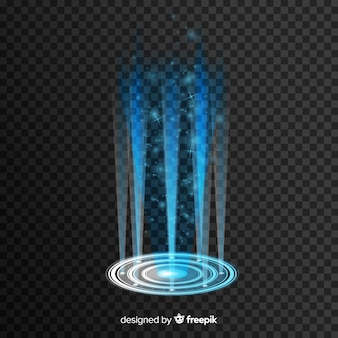 Realistic hologram of a portal