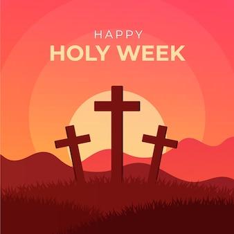 現実的な聖週間の概念