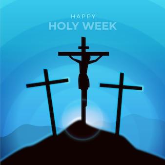 Realistico design della settimana santa