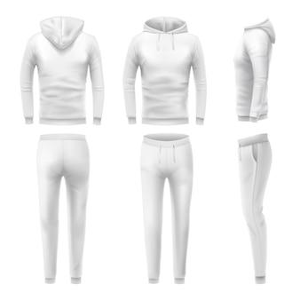 Realistic hoodies and pants set