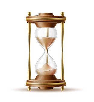 Реалистичные песочные часы песочные часы изолированных иллюстрация