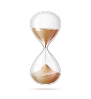 Realistic hourglass sandglass