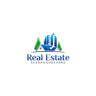 Realistic housing and property logo