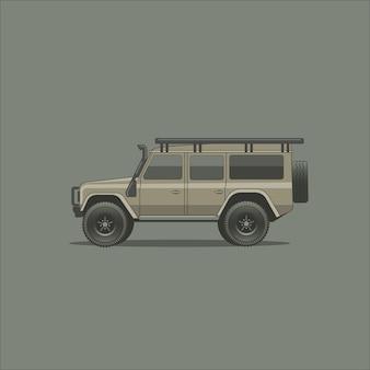 Realistic huge and massive off-road vehicle