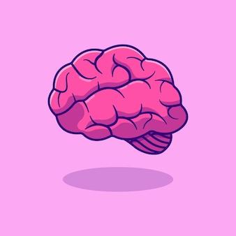 Realistic human brain vector illustration design
