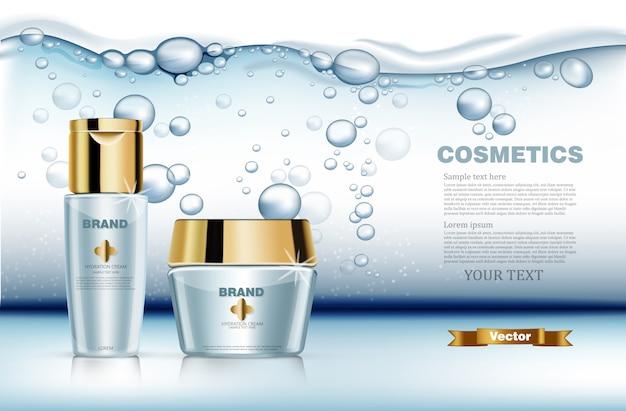 Realistic hydration water cosmetics