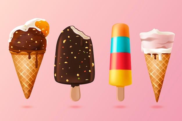 Реалистичная коллекция мороженого