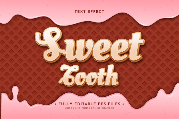 Realistic ice cream dripping background with text effect