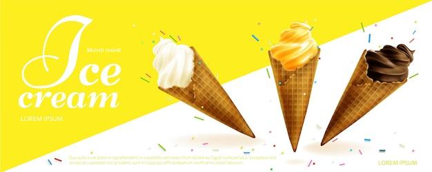 Promo gelato realistico