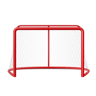 Realistic ice hockey goal with net for goalkeeper winter team sport