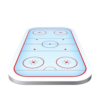 Realistic ice hockey playground arena icon