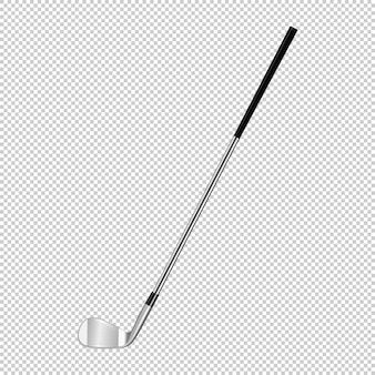 Realistic icon of classic golf club isolated on transparent background.