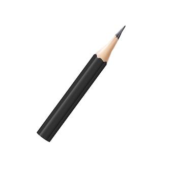 메모에 대 한 짧은 나무 연필의 현실적인 아이콘