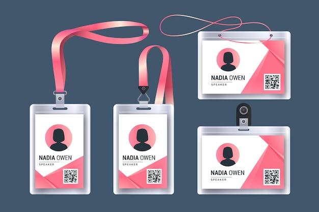 Realistic id card stationery