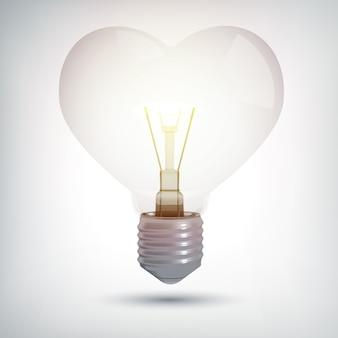 Realistic illuminated electric 3d bulb