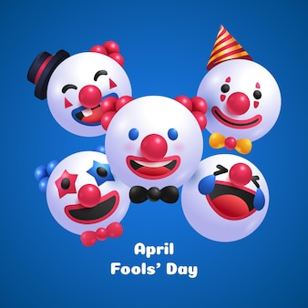 Realistic illustration april fools' day