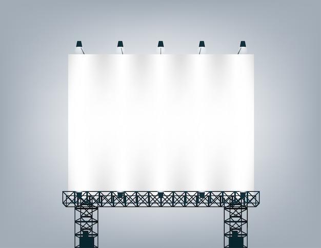 Realistic illustration of blank billboard for advertisement