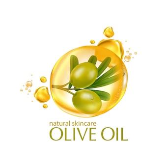 オリーブオイルスキンケア化粧品を原料としたリアルなイラスト化粧品