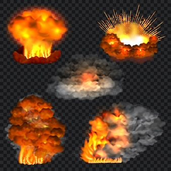 Realistic illustration of explosion isolated for web