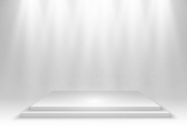 투명 배경에 3d 플랫폼의 현실적인 그림. 무언가를 확립하는 곳.