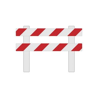 交通および輸送の概念、版画または建設中の道路障壁の現実的なイラスト