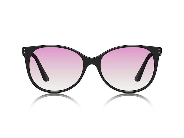 白い背景で隔離のサングラスのリアルなイラスト