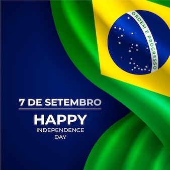 Realistic independence day of brazil background
