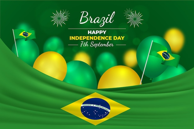 Realistic independence day of brazil concept