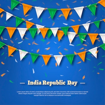Realistic independence day india illustration