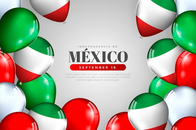 Realistic independence day of mexico background