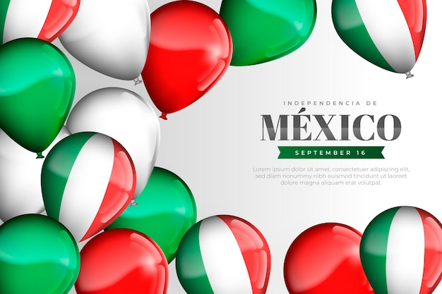 Realistic independence day of mexico wallpaper