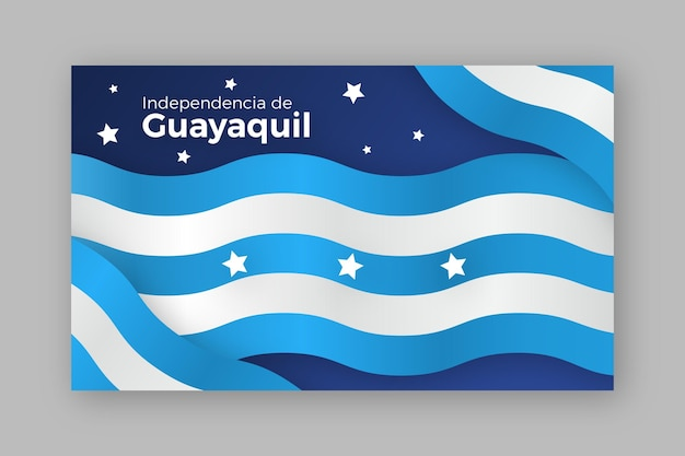 Realistic independencia de guayaquil banner