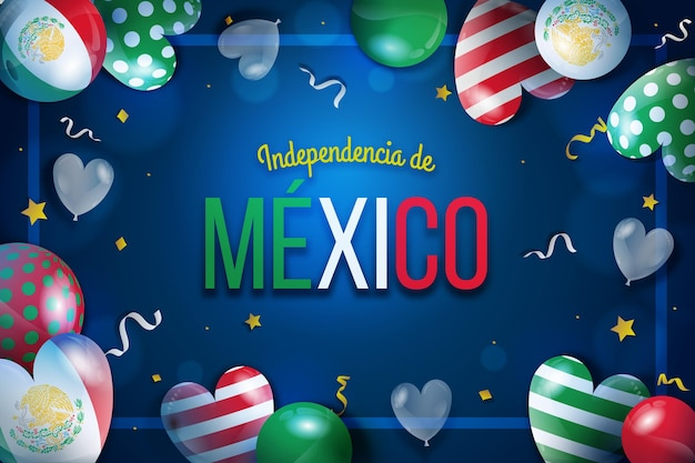 Realistic independencia de mexico balloon wallpaper