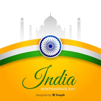 Realistic india independence day background