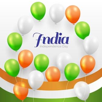 Illustrazione realistica del giorno dell'indipendenza dell'india