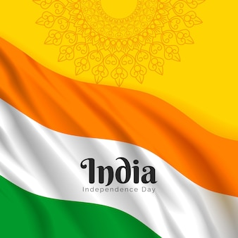 Realistic india independence day illustration