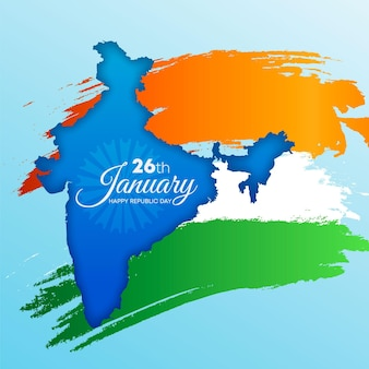 Realistic india republic day illustration
