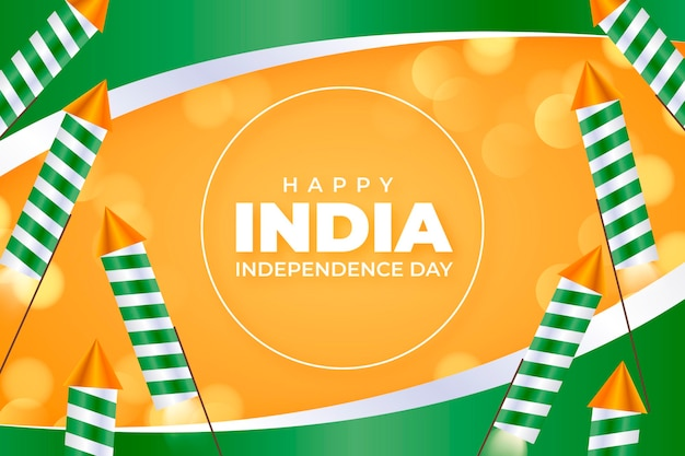 Realistic indian independence day illustration