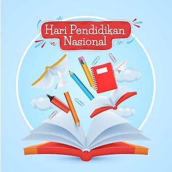Реалистичная иллюстрация индонезийского национального дня образования