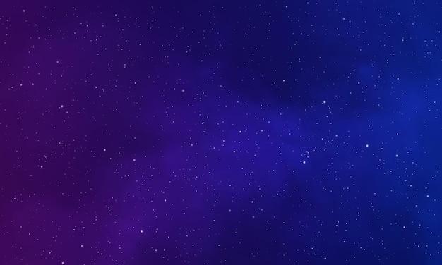 Реалистичная бесконечная вселенная звездная ночь туманность сияющая звездная пыль цвет галактика фон вектор