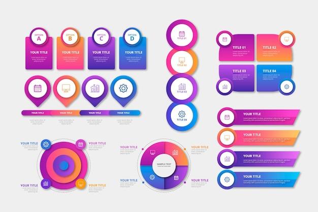 Реалистичная коллекция элементов инфографики