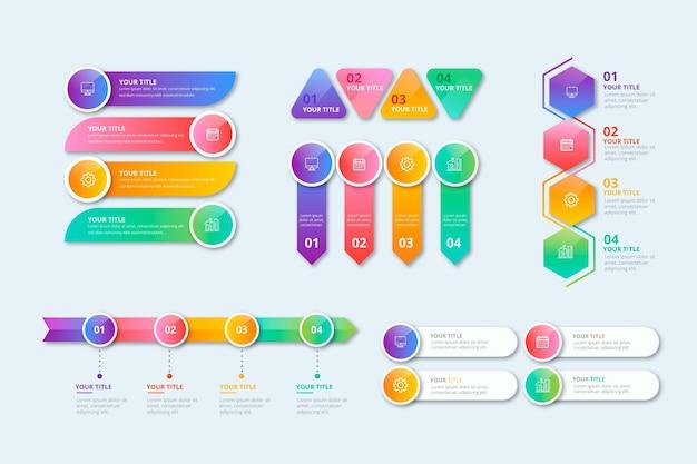 Raccolta di elementi infografici realistici