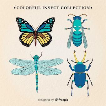 Реалистичная коллекция насекомых