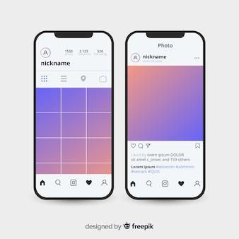 Iphoneコレクションのリアルなinstagramフォトフレーム