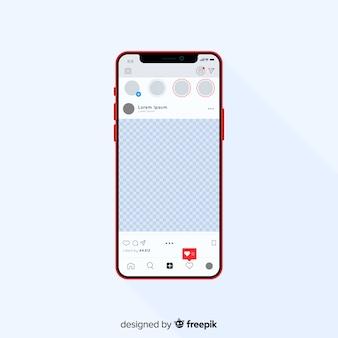 아이폰 템플릿에 현실적인 인스 타 그램 사진 프레임